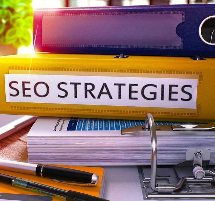 "Picture of folders labelled ""SEO strategies"" containing tips and tricks used by SEO consultant Zoe Hughes"