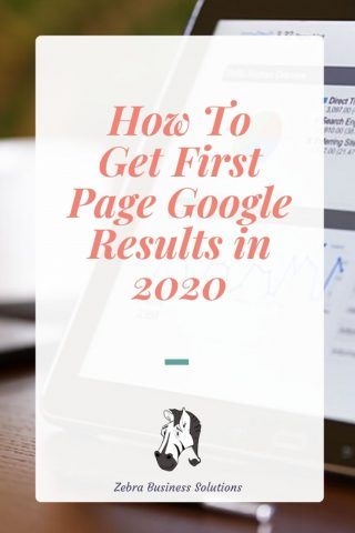 Picture of a laptop on WordPress analytics as the backdrop for the blog title how to get first page google results in 2020
